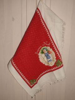 Clayre & Eef Gästehandtuch CHRISTMAS JOYEUX NOEL Gästetuch Handtuch