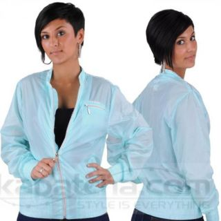 Hood Babes Lady Sweat Track Jacket Übergangs Jacke Mint Blau Kapatcha