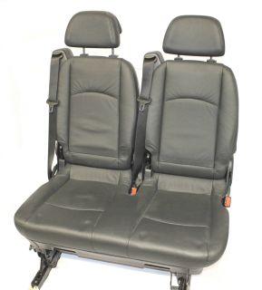 Mercedes Benz 3er Sitz Fond hinten anthrazit schwarz Leder komfort