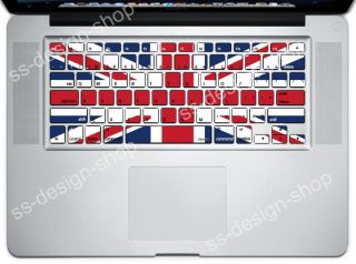 British Flag Mac Keyboard Decal Skin Cover Sticker for Apple MacBook
