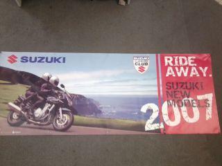 Suzuki Werbebanner Bandit Fan Artikel, Banner