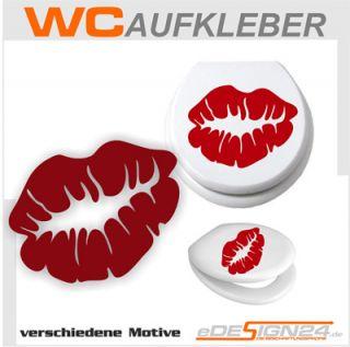 E129 WC Deckel Herz Kuss Sterne Liebe Sticker Aufkleber