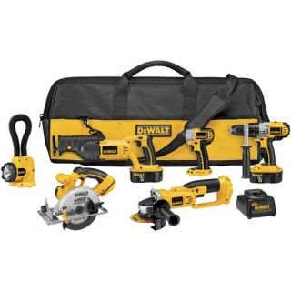 DEWALT DCK655X 18 Volt XRP Cordless 6 Tool Combo Kit
