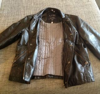Jeans Lederjacke, schwarz, Größe 50 (M), Neupreis 649€