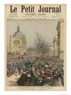 The 200th Regiment is Cheered as It Leaves for Madagascar Giclee Print by Henri Meyer