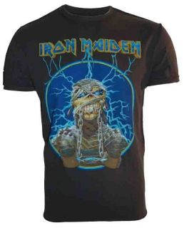 Iron Maiden Mummy T Shirt Tee Mens Amplified Vintage Charcoal Sizes S