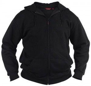 Extra Lang   Sweatjacke Sweatshirt Jacke Überlänge, Schwarz