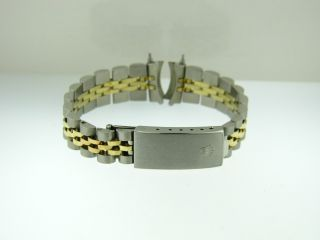 Authentic Ladies Womens Rolex 14K & Stainless Steel Jubilee Bracelet