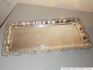 Silbertablett Tablett Anbietschale Punze BP Benjamin Pemberton England