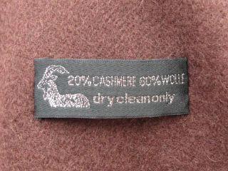 Cashmere Kaschmir Schal Stola Wolle Schokolade Braun