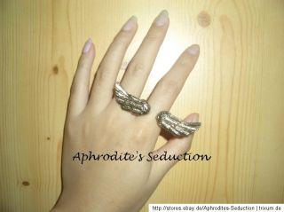 Engelsflügel Ring Farbe Gold/Bronze Süß Fingerring Modeschmuck 16