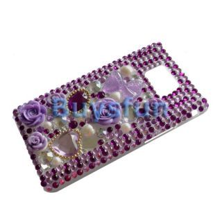 Flower Bling Hard Cover Case SAMSUNG GALAXY S2 I9100
