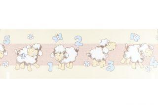 15 METER Kinder TapetenBordüre  Sweet Dreams  Schäfchen