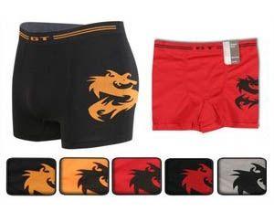 Stk. Herren Retro Boxer Shorts SEAMLESS ohne Seitennaht Drachen