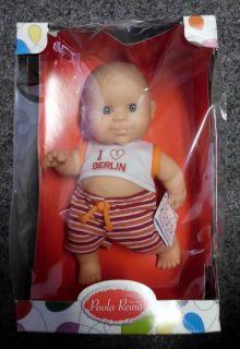 Paola Reina   117 Vinyl Boy Doll 22cm Baby Puppe Neu OVP