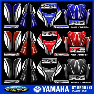 YAMAHA XT 660 R WAVELINE TRIM DEKOR, DECO, ADESIVI, DECAL by DUALSPORT