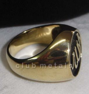 HUGE ALLAH ISLAM SUFI ARAB HEAVY BRONZE BIKER RING mens jewelry Koran