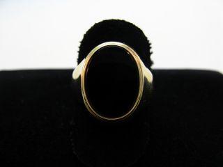 R663 333er 8kt Gelbgold Gold Ring mit Onyx ähnlich Siegelring Siegel