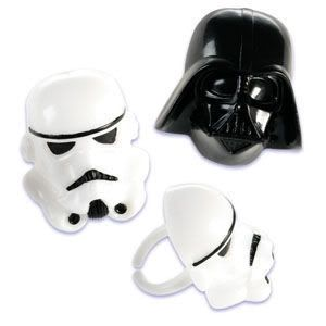 DISNEY STAR WARS Geburtstag Muffin Party Ringe 4ST