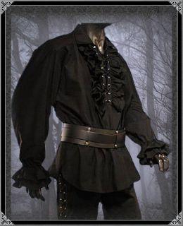 Hemd Gothic Mittelalte r Vampir Pirat S XXXL schwarz