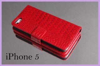 Apple iPhone 5 Brieftasche Leder Tasche Case Schutzhülle Cover Hülle