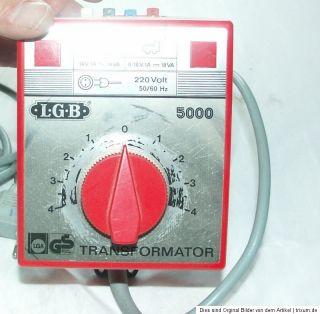 LGB 5000 TRAFO 18VA 0 18V TRANSFORMATOR Sammlungsauflösung online