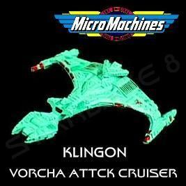 VORCHA KLINGON BATTLE CRUISER   MICRO MACHINES   STAR TREK TNG