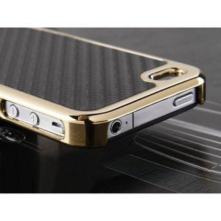 iPhone 4 4S Bumper Schutz Hülle Tasche Hard Case Cover Carbon Schwarz