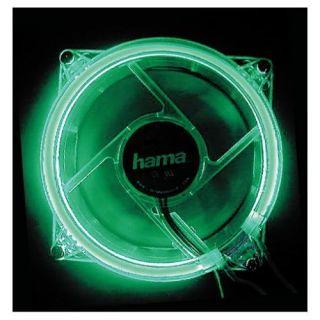 Hama PC Gehäuse Lüfter 80mm beleuchtet Grün LED Cooler Fan Kühler