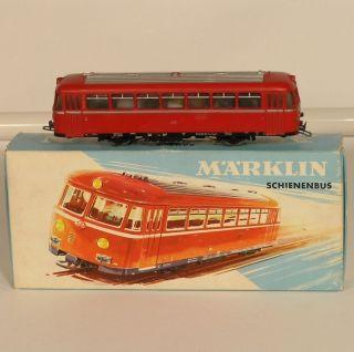 1m02  Märklin 3016 Schienenbus mit Verpackung.