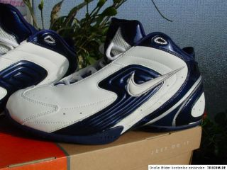 NIKE AIR MAX DEFIANT Sneaker weiss royalblau Basketballschuhe Gr.46