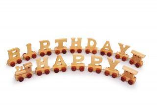 Geburtstagszug Happy Birthday Eisenbahn Holzzug Geburtstag Lok