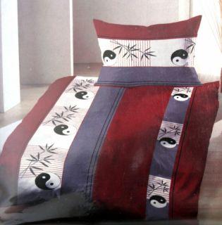 Bettwäsche 2 teilig mit Reißverschluss ~ Ying Yang ~ 60x80 + 130x190