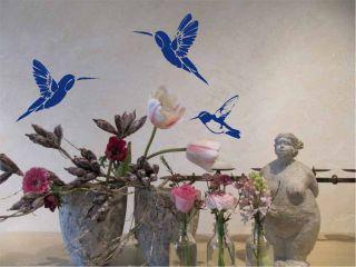 WANDTATTOO Wandsticker Vögel Kolibri 3 Stück W695 Wohnzimmer