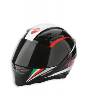 DUCATI AGV Helm Helmet PEAK ´13 & Sonnenblende schwarz tricolore NEU