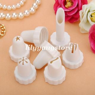 Tips Cake Decorating Icing Piping Syringe Nozzles Set Kit