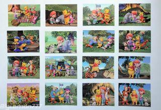Walt Disney Winnie the Pooh & Friends 16 Postcard Set 3