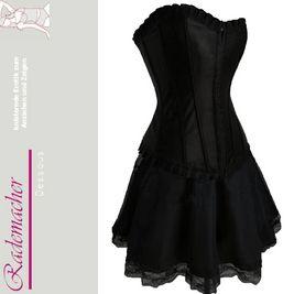 Corsagekleid Kleid Mini Rock Corsage Korsett Petticoat Gothic schwarz