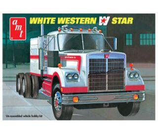 AMT 1/25 White Western Star Plastic Truck model kit AMT724/06 NEW