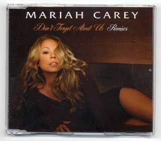 Mariah Carey Maxi CD Dont Forget About Us REMIXES   EU 5 track promo