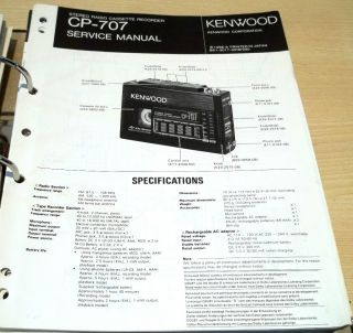 Kenwood CP 707 Walkman Service Manual