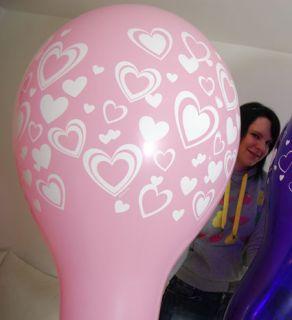 24 Qualatex RIESEN Luftballons Valentinstags Mix*LIEBE*VALENTINES