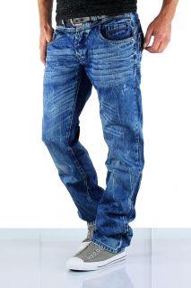 CIPO & BAXX Jeans Denim Herren Hose Vintage Blau Clubwear C921 NEU