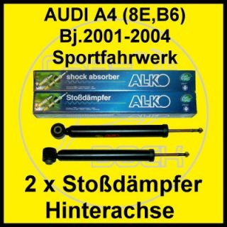 Sport Stoßdämpfer hinten AUDI A4 (8E,B6) Limo+Avant