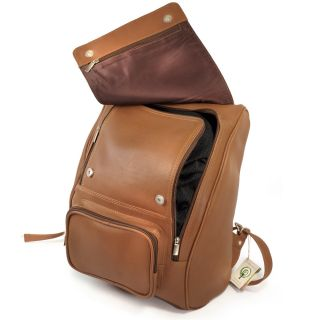 Leder Rucksack Modell 711 Cognac Laptop fach   top Qualität