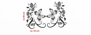 E144 Tribal Schmetterling Blumen Aufkleber Sticker Auto