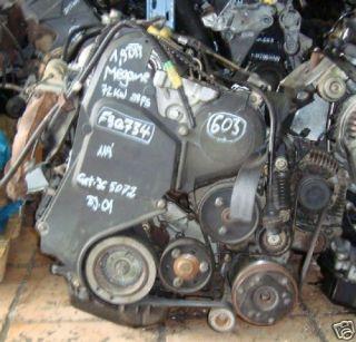Motor Renault Megane 1,9 DTI MotorkennbuchstabenF9Q734 72KW Bj.01