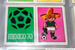 Panini WM WC World Cup MEXICO 70 1970 A DREAM COMPLETE SET + EMPTY