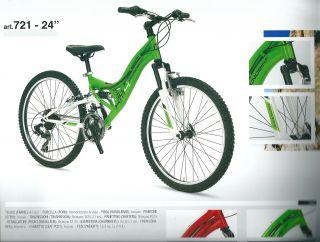 bici bicicletta mtb mountain bike 24 tecnobike biammortizzata