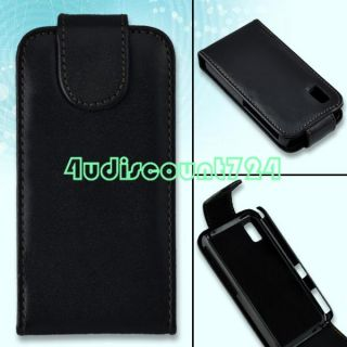 Black Leather Wallet Case Cover Pouch For Samsung S5230
